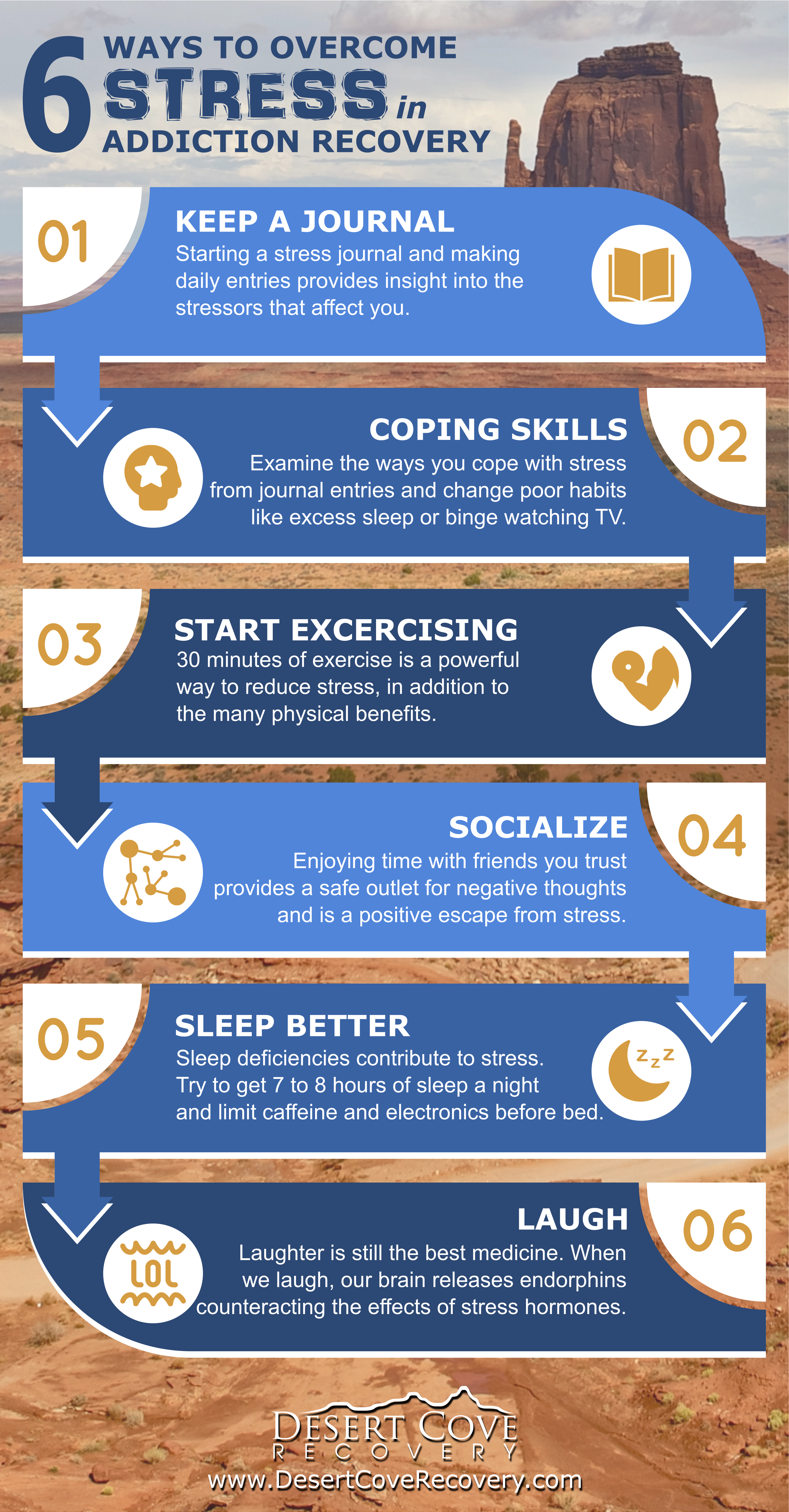 ways to overcome stress in addiction recovery