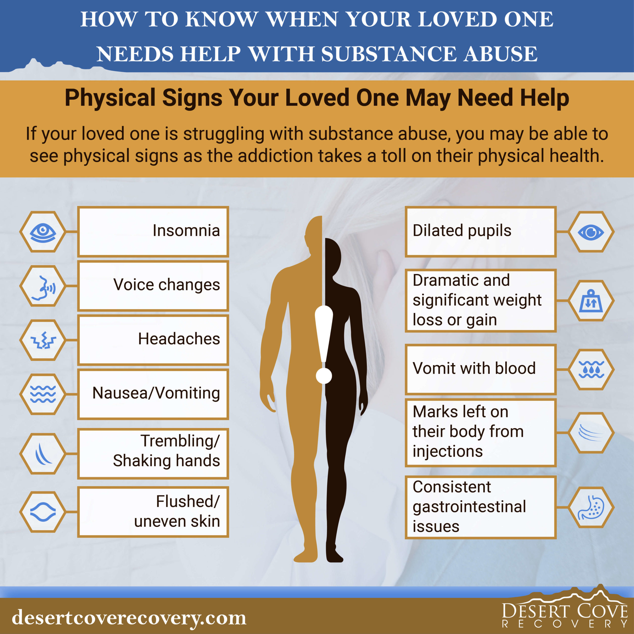 physical signs that someone needs help with substance abuse